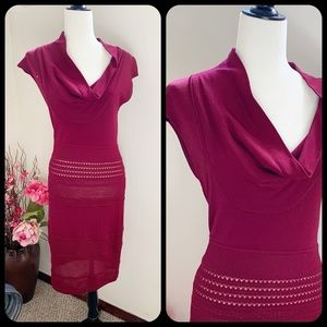 Catherine Malandrino Burgundy knit Sweater dress